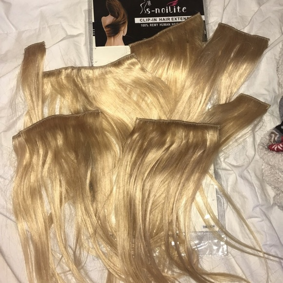 S Noilite Other Double Weft Straight Clip In Remy Hair Extensions